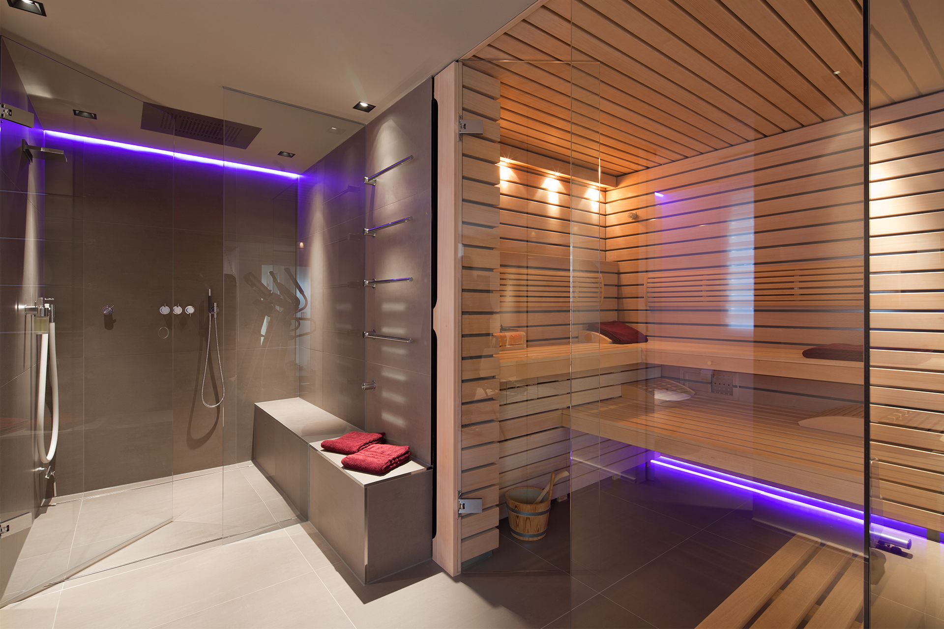 Privat-Spa mit Sauna